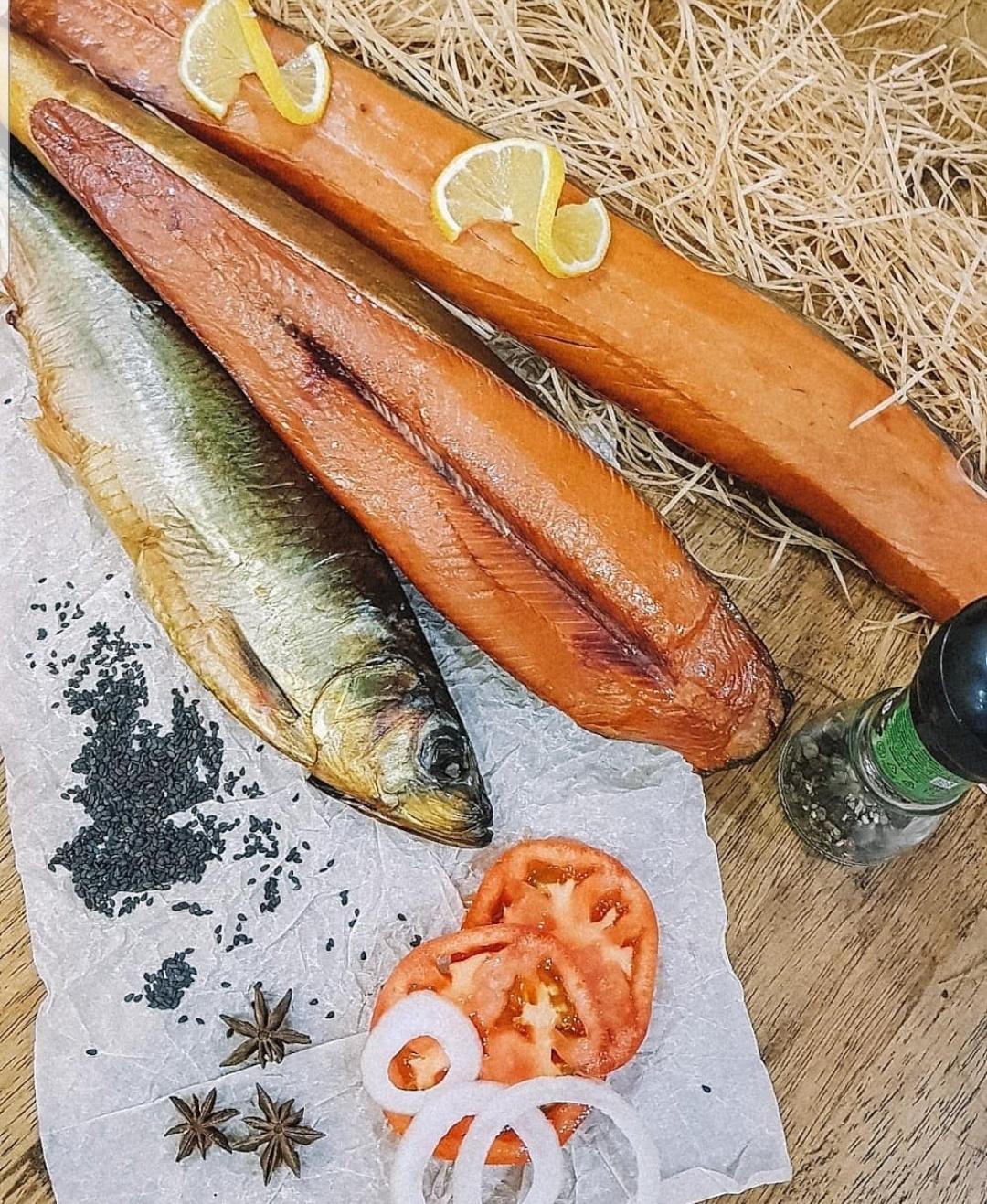 Красная копченая рыба